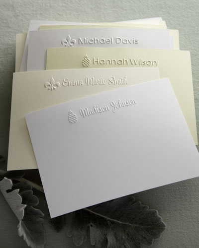 """Embossed Motif"" Cards & Envelopes"