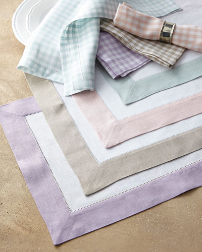 Colorblock Placemats & Gingham Napkins