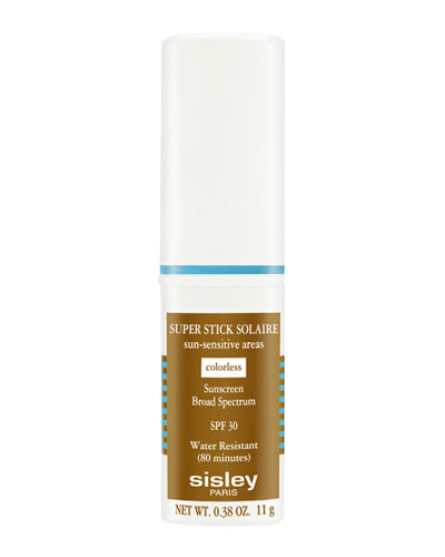 Super Stick Solaire Sun-Sensitive Areas Broad-Spectrum Sunscreen SPF30, Colorless