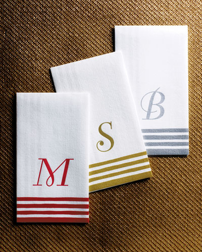 100 Personalized Guest Towels/Buffet Napkins