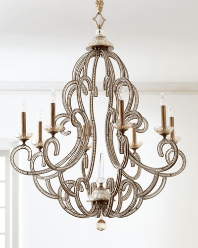 Beaded Elegance Eight-Light Chandelier