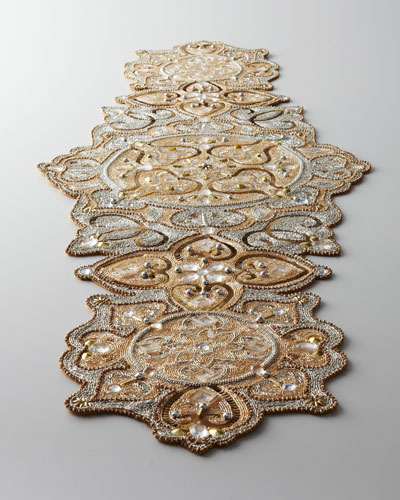 kim seybert baroque beaded table runner
