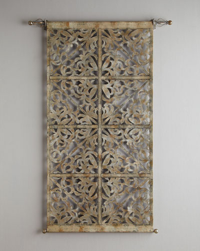 Laser-Cut Leather Tapestry