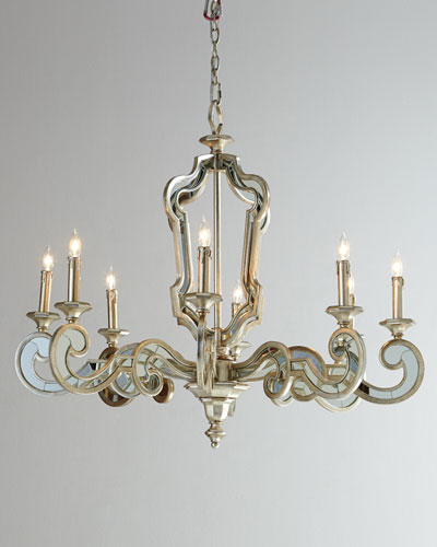 Architectural Mirrored Chandelier