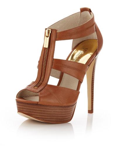 Berkley Leather T-Strap Sandal, Luggage