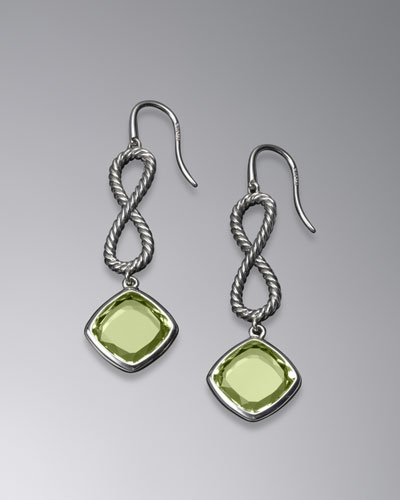 Confetti Figure-Eight Drop Earrings with Prasiolite