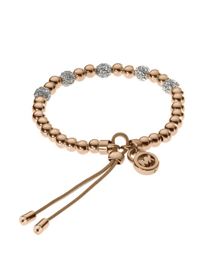 Bead Stretch Bracelet, Rose Golden