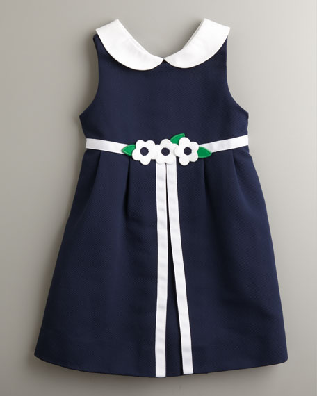 Bird's Eye Pique Dress, Sizes 2T-4T