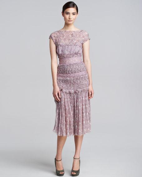 Fl Print Chiffon Dress