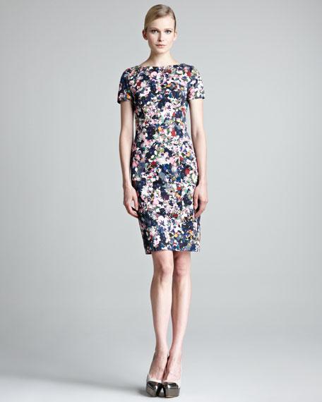 4be3f3b2dfd7d7 Erdem Joyce Short-Sleeve Floral-Print Dress