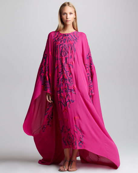 Embroidered Silk Caftan