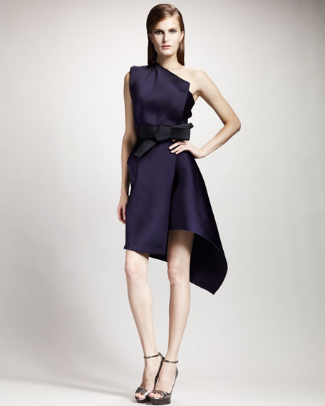 Duchesse Techno Shoulder Dress Lanvin One Violet wEPSCC