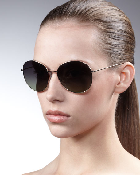 c553d9742a5 Oliver Peoples Blondell Round Aviator Sunglasses. Blondell Round Aviator  Sunglasses