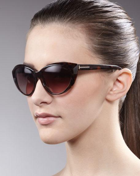 f53701b28b934 Tom Ford Martina Cat-Eye Sunglasses