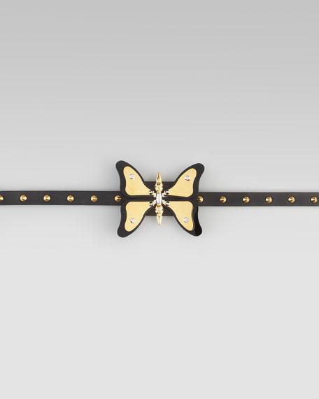 deeae2b89a5 Gucci Adjustable Leather Butterfly Belt