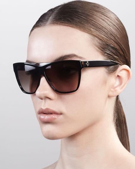 7b70716dab435 Gucci Square Plastic Sunglasses