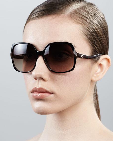 826d79c85 Diane von Furstenberg Elisa Oversized Square Sunglasses, Black Tortoise