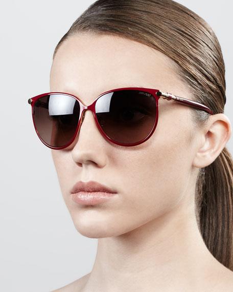 c1a6b1736e Jimmy Choo Juliet Metal Cat-Eye Sunglasses