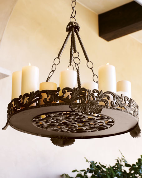 Gg collection outdoor candle chandelier aloadofball Choice Image