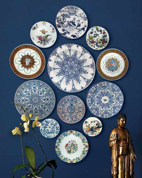 12-Piece Faience Wall Hanging