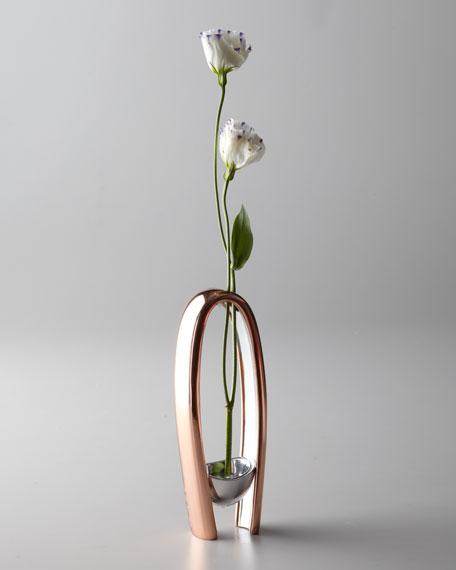 Nambe Copper Canyon Bud Vase