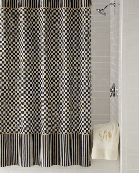 Courtly Check Shower Curtain