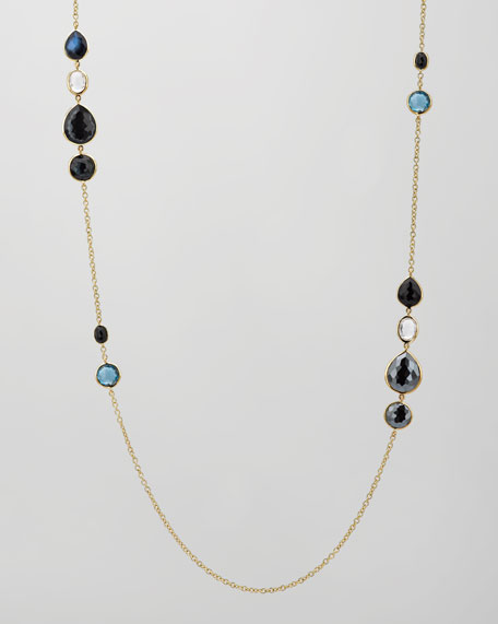 "Rock Candy 18k Gold Grouped Gelato Station Necklace 37"", Lago"