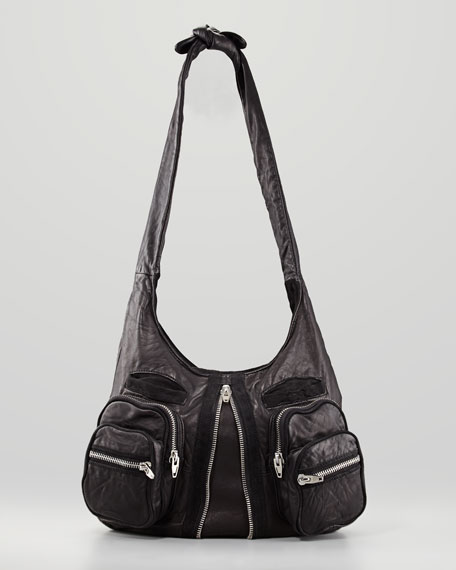 28b3faae7a1e Alexander Wang Donna Hobo Bag, Black