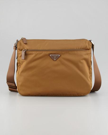 Nylon Hobo Bag Medium Brown
