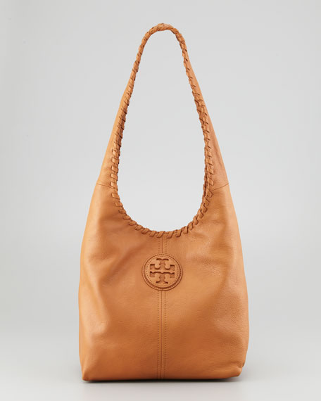 Marion Leather Hobo Bag Royal Tan