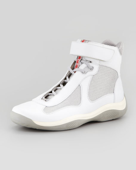 Prada Chaussures De Sport De Coupe Amérique Blanc - L4ay31