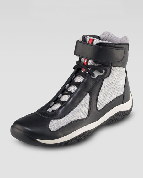 Top Blacksilver Leather Leather Top Top High High Blacksilver High Sneaker Sneaker LUMpGSqVz