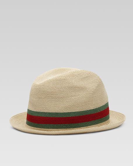 Gucci Fedora Straw Hat 3a7d08884827