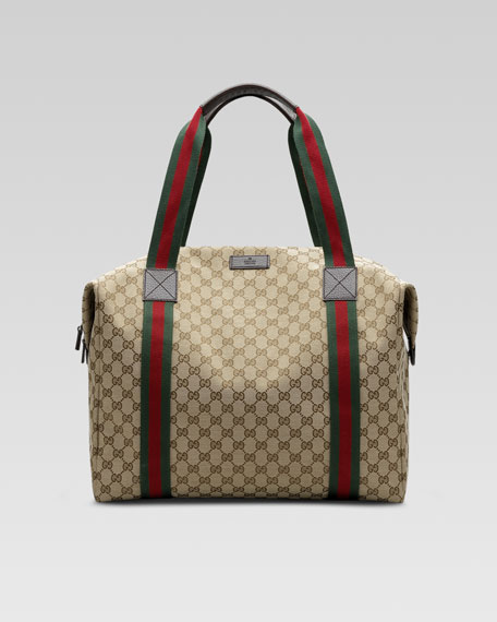 ee759143cce Gucci Canvas Convertible Duffle Tote