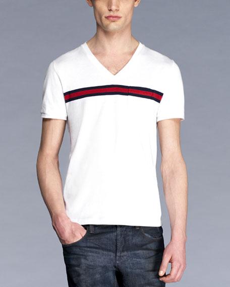 dc2456582 Gucci Cotton Web-Stripe Tee, White