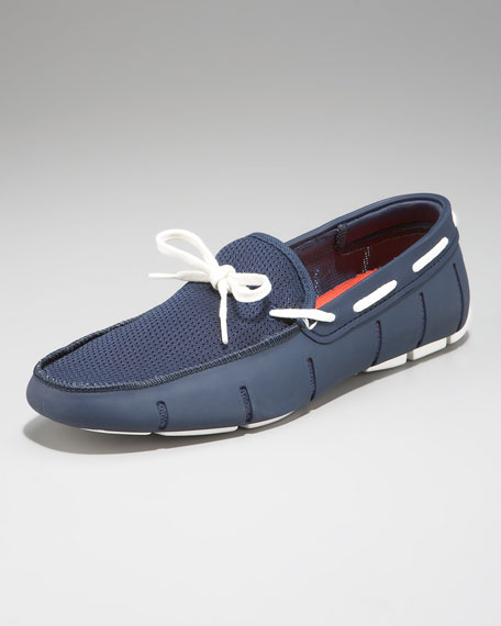 7fa467ac521a7 Swims Lace-Up Rubber Loafer, Navy