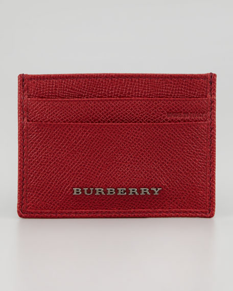 Leather Credit Card Case, Red