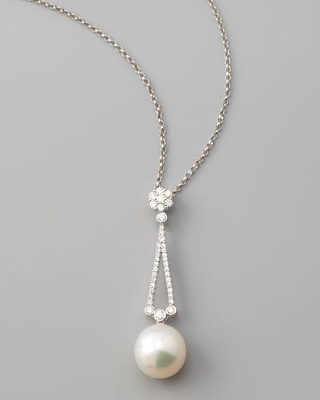 Assael South Sea Pearl & Diamond Pendant Necklace, 18