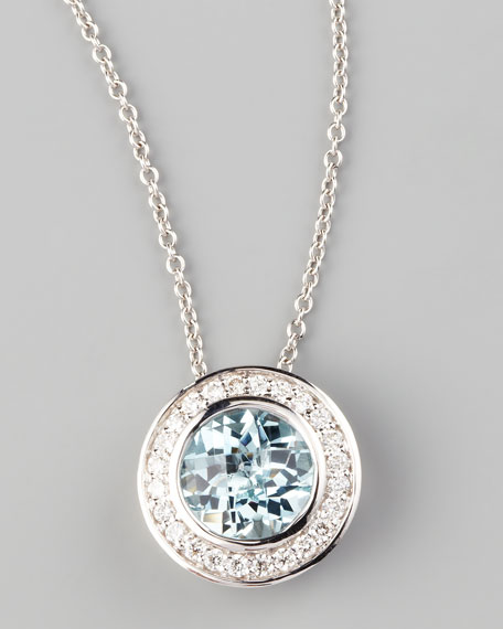 Frederic sage frederic sage mini aquamarine diamond pendant necklace aloadofball Image collections