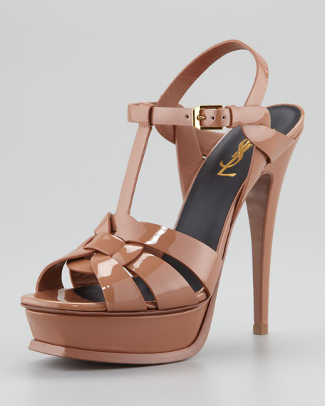 4322d48121d4 Saint Laurent Tribute Patent Leather Sandal