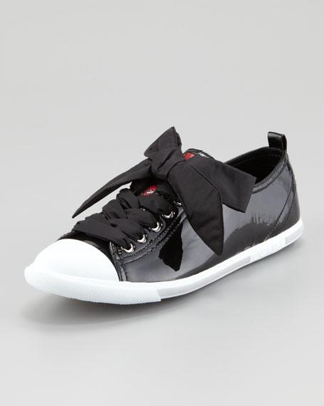 8690ad460ed Prada Patent Leather Cap-Toe Sneaker