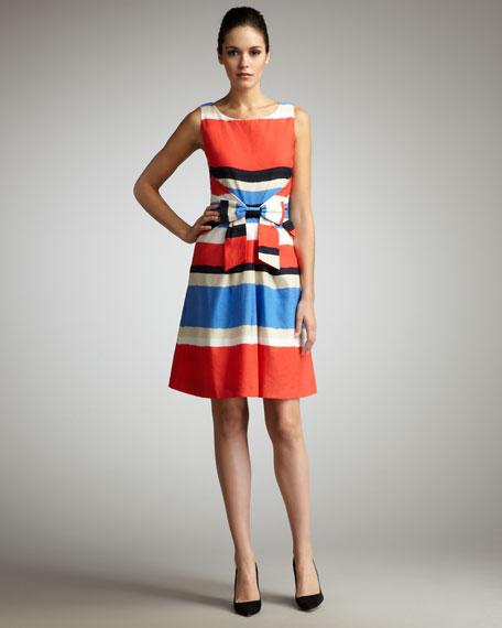 76139e39e kate spade new york jillian striped bow-waist dress
