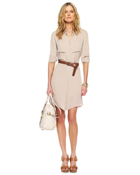 Michael Kors Belted Shirt Dress