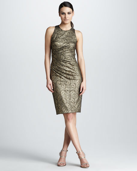 Lace-Jacquard Dress
