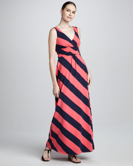 Lilly Pulitzer Sloane Bias Striped Maxi Dress