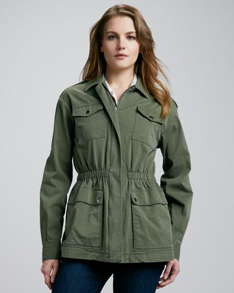 2d6d4043 Theory Mauritius Canvas Cargo Jacket
