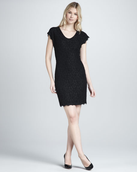 Look - Dvf dress lace video