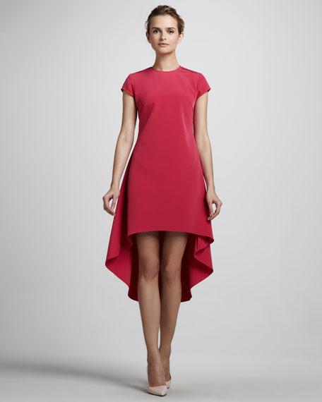5863e27ba88 Nha Khanh Cap-Sleeve High-Low Dress