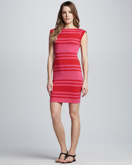 e87f602540 French Connection Vivacious Striped Fitted Dress