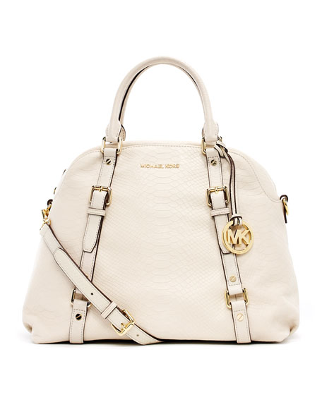 Bedford Extra Large Bowling Satchel Bag Dove White